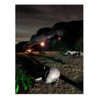 Roswell UFO-Abbruch an der Nachtpostkarte Postkarte