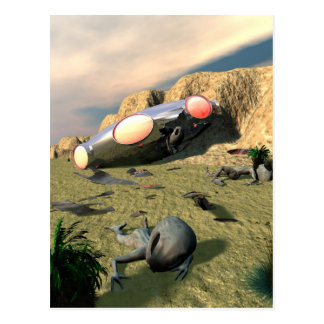Roswell UFO-Abbruchs-Postkarte Postkarte