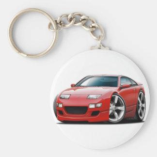 Rot-Auto Nissans 300ZX Schlüsselanhänger