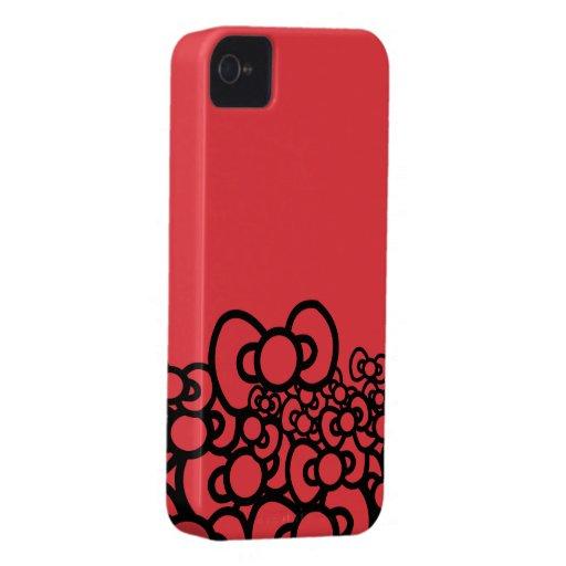 Rot-Bögen iPhone 4 Cover