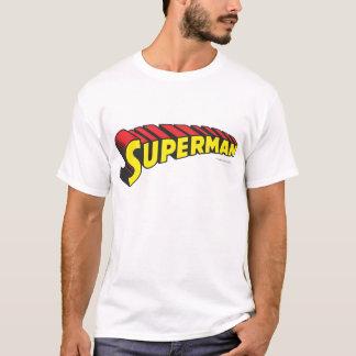 Rot-Buchstabe-Logo des Supermann-| gelbes T-Shirt