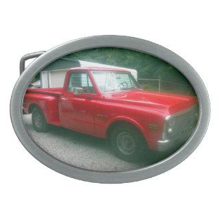 Rot Chevy C10 Stepside LKW 1972 Ovale Gürtelschnallen