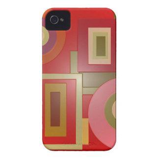 Rot formt Popkunst iPhone 4 Case-Mate Hüllen
