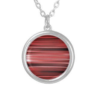 Rot gebogene Streifen Versilberte Kette