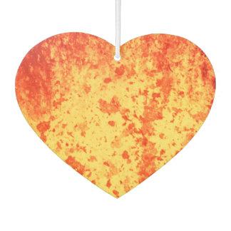Rot-gelb-orange heiße Lavaeruption vom Krater Autolufterfrischer