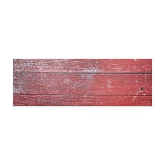 Rot gemalte hölzerne Platte Leinwanddruck