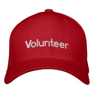 Rot gestickte freiwillige Kappe Bestickte Kappen