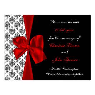 rot Save the Date wedding Mitteilung Postkarten