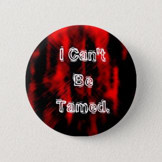 Rot-schwarz-emohintergrund, kann ich nicht gezähmt runder button 5,1 cm