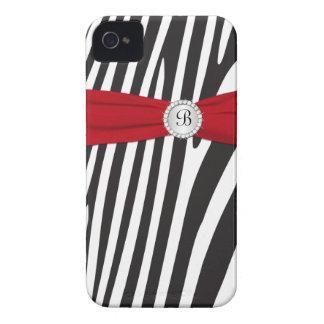 Rot, schwarz, Zebra-Streifen-BlackBerry-mutiger iPhone 4 Hülle