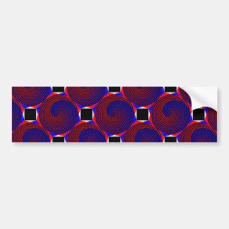 Rot-u. Blau-Spirale durch Kenneth Yoncich Autoaufkleber