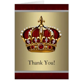 Rot und Goldkrone danken Ihnen Karten