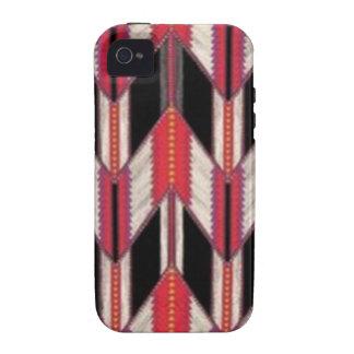 Rot und Schwarzes Vibe iPhone 4 Case