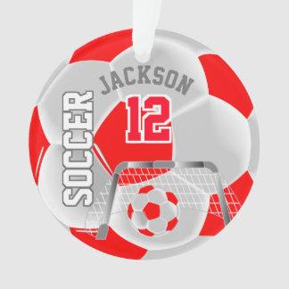 Rot und Weiß personifiziert Fußball Ornament