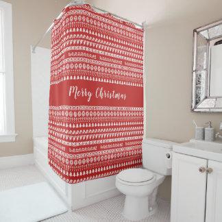 Rot und Weiß rudert Duschvorhang