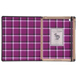 Rot-Violettes Karo-Muster Etui Fürs iPad