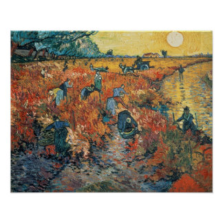 Rot-Weinberge Vincent van Goghs | bei Arles, 1888 Poster