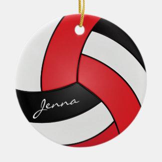 Rot, Weiß u. Schwarzes personifizieren Sie Rundes Keramik Ornament