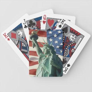 Rot, weiß und Blau Spielkarten