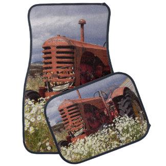 Rote Ackerschlepper-Auto-Boden-Matten Automatte