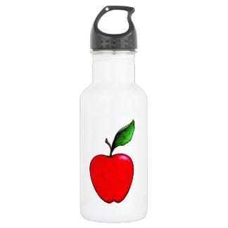 Rote Apple-Wasser-Flasche Trinkflasche