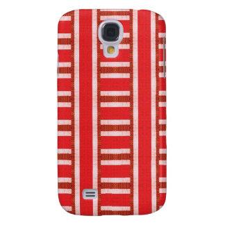 Rote Baja Strickjacke-Leinwand Galaxy S4 Hülle