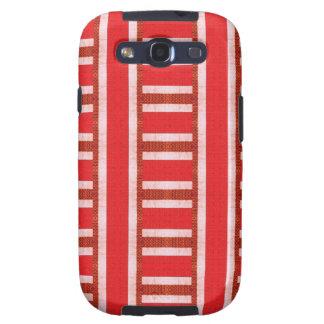 Rote Baja Strickjacke-Leinwand Schutzhülle Fürs Samsung Galaxy S3