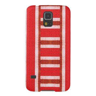 Rote Baja Strickjacke-Leinwand Samsung S5 Hülle