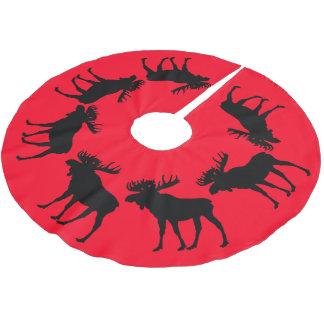 rote Baumrock Weihnachtselche Polyester Weihnachtsbaumdecke