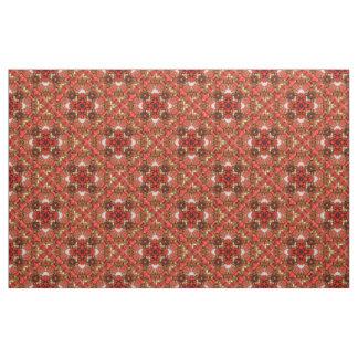 Rote Beeren diagonal Stoff