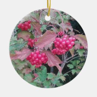 Rote Beeren-Verzierung Keramik Ornament