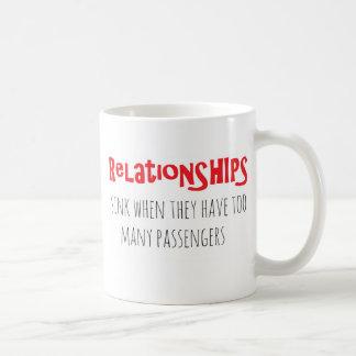 Rote Beziehungens-Tasse Tasse