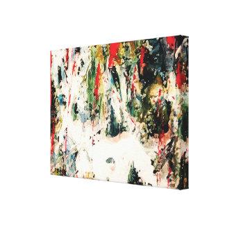 Rote, blaue und grüne abstrakte Natur-Malerei Leinwanddrucke