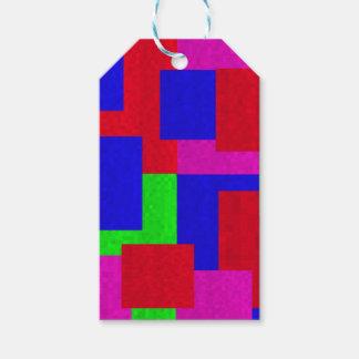 Rote blaues Grün-abstrakte Mosaik-Block-Farben, Geschenkanhänger