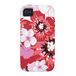 Rote Blumen iPhone 4 Hüllen