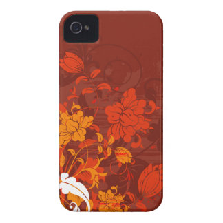 Rote Blumengestecke iPhone 4 Cover