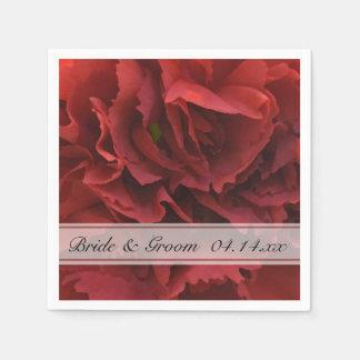 Rote Blumenhochzeit Papierservietten