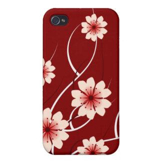 Rote Blüte des Lehms Kirsch iPhone 4 Case