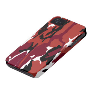Rote Camouflage iPhone 4 Case-Mate Hüllen