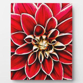 Rote Dahlie-BlumenBlumen-Blumenblatt-Blüten-Garten Fotoplatte