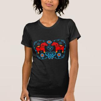 Rote Dala Pferde T-Shirt