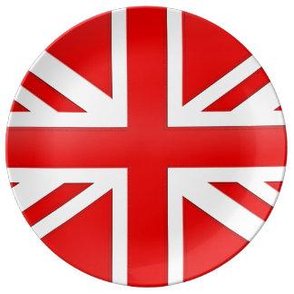 Rote englische Flagge Teller Aus Porzellan
