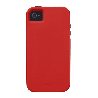 rote Farbe Vibe iPhone 4 Cover
