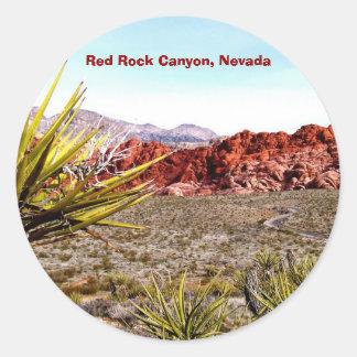 Rote Felsen-Schlucht, Nevada-Aufkleber Runder Aufkleber