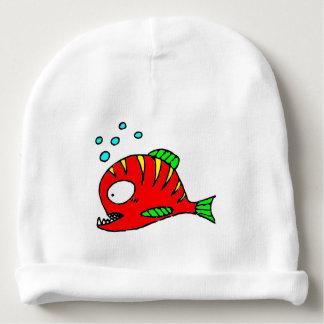 Rote Fische Babymütze