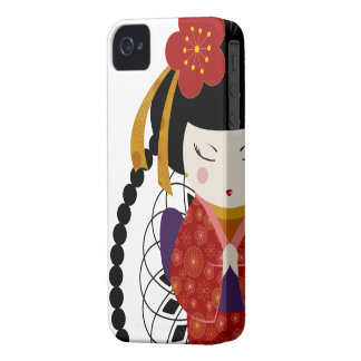 Rote Geisha iPhone 4 Hülle