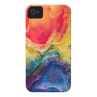 Rote gelbe blaue abstrakte Malerei iPhone 4 Case-Mate Hüllen