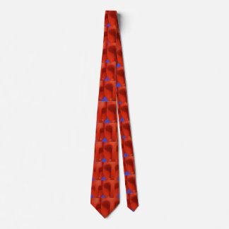 Rote Gesichter Bedruckte Krawatte