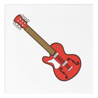 Rote Gitarre Acryldruck