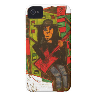 Rote Gitarre iPhone 4 Cover